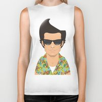 ace Biker Tanks featuring Ace by Capitoni