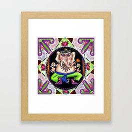 Ganesh Ganesha Mandala Framed Art Print