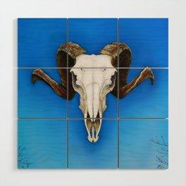 Dartmoor Sheep Skull Wood Wall Art