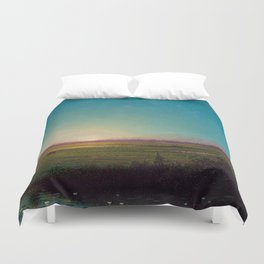 Twilight in the Florida Everglades by Martin Johnson Heade Duvet Cover