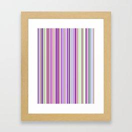 Pink Summer Stripes Framed Art Print