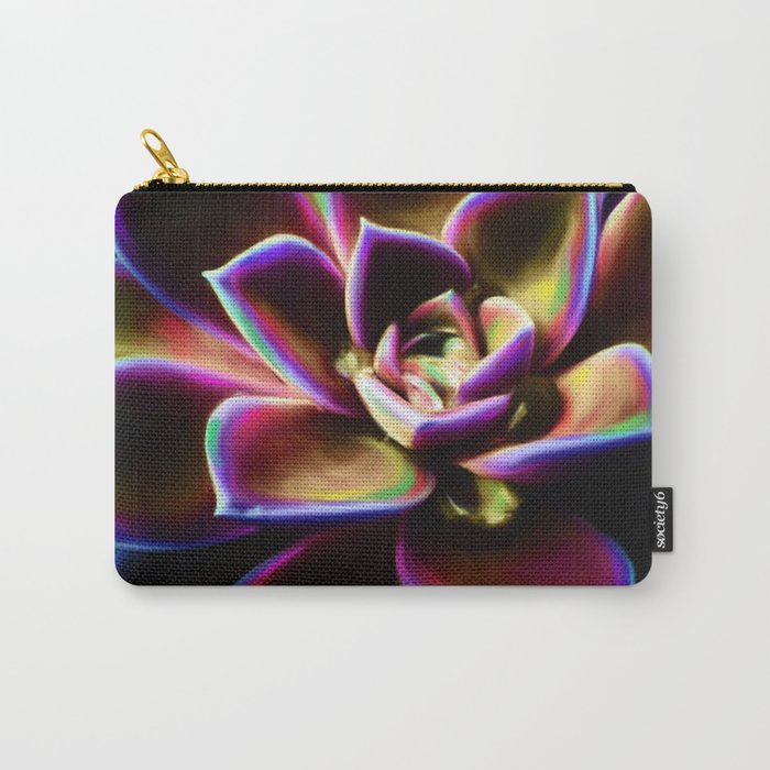 RAINBOW SUCCULENT Carry-All Pouch