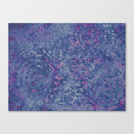 Batik Small Stained Glass Lavender Canvas Print