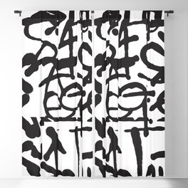 Graffiti Pattern Blackout Curtain