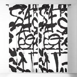 Graffiti Pattern Blackout Curtain
