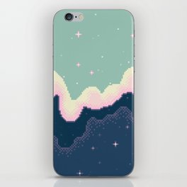 Pixel Day and Night Galaxy iPhone Skin