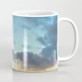 stop sign against clouds at sunset Coffee Mug