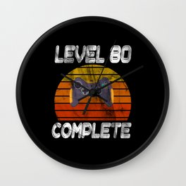 Level 80 complete Gamer Wall Clock