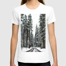 Winter Road #snow T-shirt