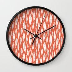 Quail Feathers (Poppy) Wall Clock
