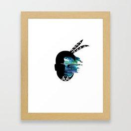 Ancestral Moko Framed Art Print