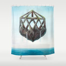 Floating Rock Shower Curtain