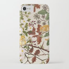 Marsh Tit and Field Mice iPhone Case