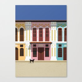 Hungry visitor - Phuket Town street scene. Canvas Print