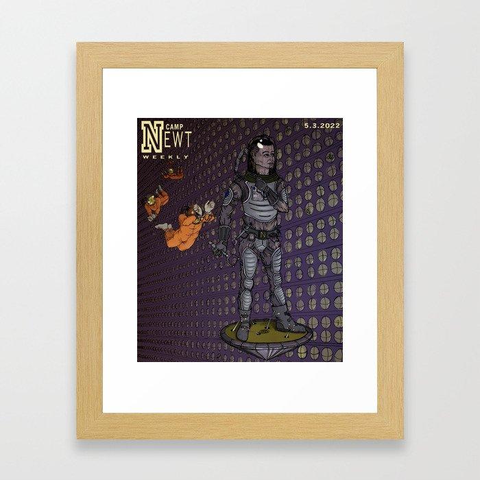 Camp Newt Weekly Moon Mag Framed Art Print