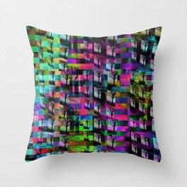 Tree Apartments Throw Pillow
