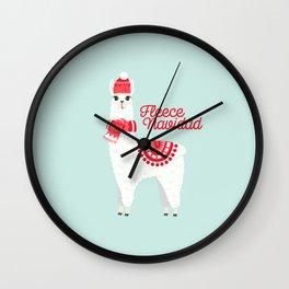 Fleece Navidad Alpaca Wall Clock