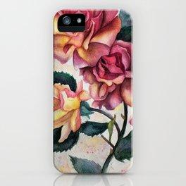 Fresh Tea Roses iPhone Case