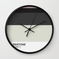 pantone Wall Clocks featuring pantone husky by pixel.pwn | AK