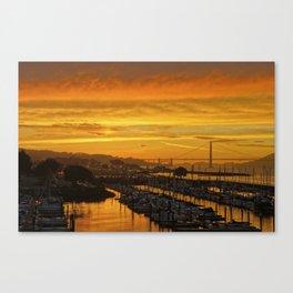 The Most Engoldened Gate Bridge Canvas Print