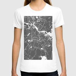 Amsterdam Gray on White Street Map T-shirt