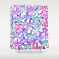hawaiian Shower Curtains featuring Hawaiian flowers by Marta Olga Klara