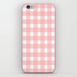 Pink Gingham Design iPhone Skin