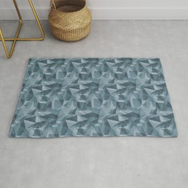 Abstract Geometrical Triangle Patterns 3 Behr Blueprint Blue S470-5 Rug
