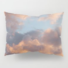 Peach Clouds Pillow Sham