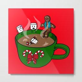 Relaxing Hot Cocoa Metal Print