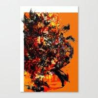 metal gear Canvas Prints featuring metal gear by ururuty