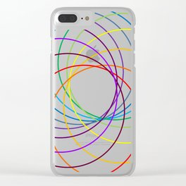 Spiranbow Graph Clear iPhone Case