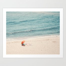 The Orange Beach Umbrella Art Print