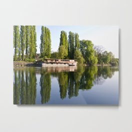 The Old Barge at Auvers Metal Print