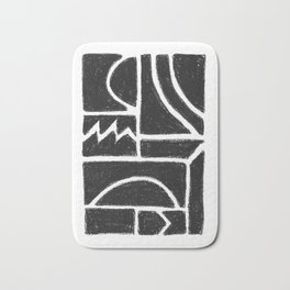 Charcoal Pattern Bath Mat