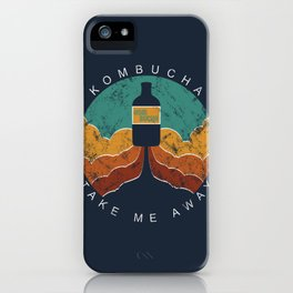 "KOMBUCHA ""Take Me Away"" Rocket // Mushroom Tea Graphic Design Scoby Health Drink Bubble Scooby iPhone Case"