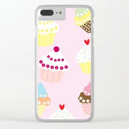 I Love Cupcakes Clear iPhone Case