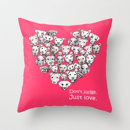 Just Love. (white text) Throw Pillow