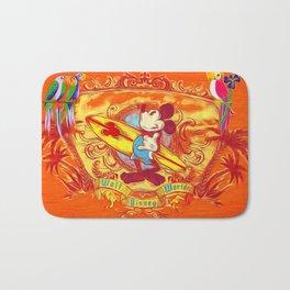 Surfer Mickey Mouse Bath Mat
