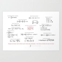 High-Math Inspiration 01 - Red & Black Art Print