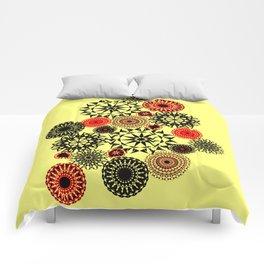 Black/Red Pattern Comforters