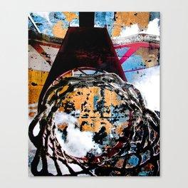 Basketball artwork swoosh vs 27 Canvas Print