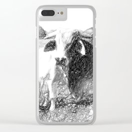 Brahman Bulls sketch Clear iPhone Case