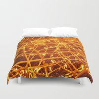 the lights Duvet Covers featuring Lights by Yukska