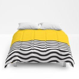 Waves of Yellow Comforters