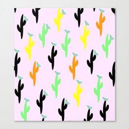 Birds and succulents Canvas Print