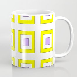 Tribute to mondrian 8- piet,geomtric,geomtrical,abstraction,de  stijl, composition. Coffee Mug
