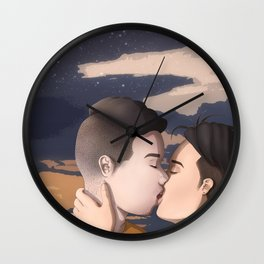 Kissing (BG) Wall Clock