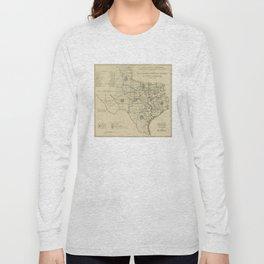 Vintage Texas Highway Map (1917) Long Sleeve T-shirt