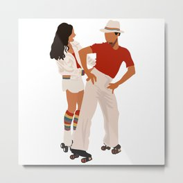 Jackie And Fez Roller Disco Dancing Metal Print